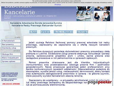 Lubelskie Kancelarie - Adwokat i Radca Prawny w Lublinie