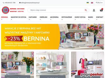www.maszynydoszycia.pl - sklep internetowy