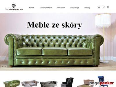 MEBLE DIAMANTE Sofa pikowana