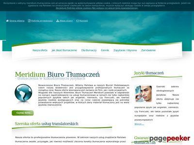 Biuro Tłumaczeń Meridium