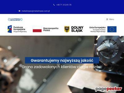 Www.metalimpex.com.pl frezowanie CNC Wrocław
