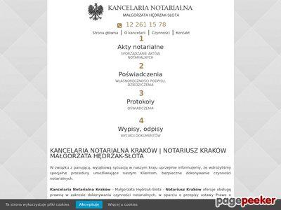 Usługi notarialne Kraków