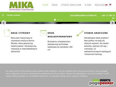 Rollup Fototapety ulotki wizytówki Wrocław - Mika Studio
