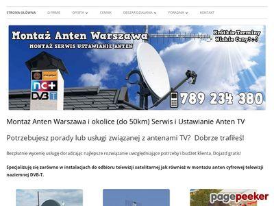 Montaż Anten w Warszawie