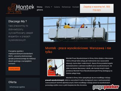 Mycie elewacji oraz okien na wysokościach - Montek Warszawa