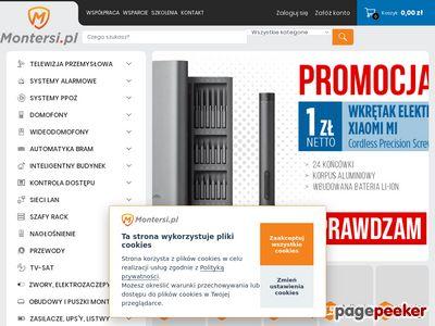 Systemy alarmowe, kamery, domofony - Montersi.pl