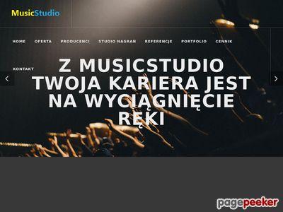 Podkłady muzyczne, studio nagrań Łódź - MusicStudio