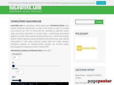 Nachwilke.com przeglądarka chwilówek
