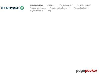Pożyczki Firmy pozabankowe - netpozyczka24.pl
