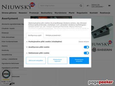 Niuwsky sklep folie membrany ogrodzenia bramy materiały budowlane