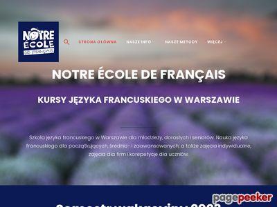 Notre école de français - Szkoła języka francuskiego W-wa