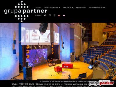 Grupa PARTNER - nagłośnienie, oświetlenie