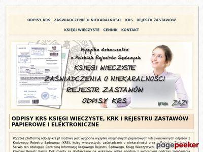 Odpis KRS