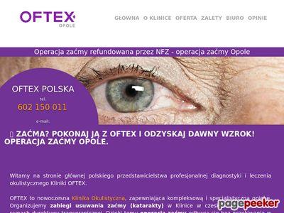 OFTEX Opole - zaćma - pozbądź się tej choroby