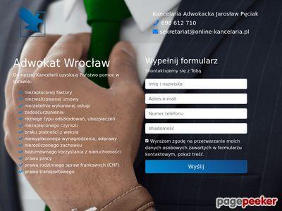 Online Kancelaria - Kancelaria Adwokacka Adwokat Jarosław Pęciak