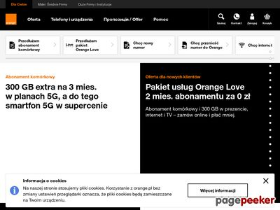 Internet mobilny w Orange