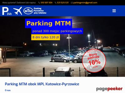 Pyrzowice lotnisko parking - Parking MTM