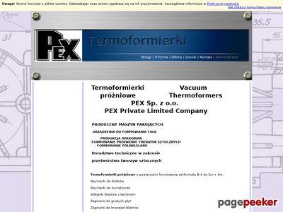 Formowanie próżniowe tworzyw sztucznych | www.pex.biz.pl