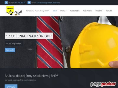 Obsługa BHP Lublin - pietrzyk-bhp.com