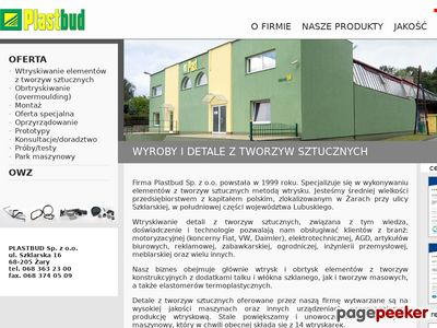 Wtrysk tworzyw sztucznych | http://www.plastbudzary.pl