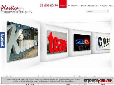 PRACOWNIA REKLAMY PLASTICA reklama świetlna