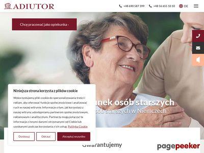 Opieka z zamieszkaniem, opiekunki Niemcy - Centrum Adiutor