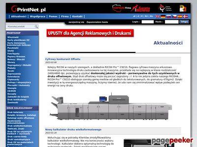 Drukarnia PrintNet - druk, druk wielkoformatowy, druk offsetowy, etykiety, wizytówki