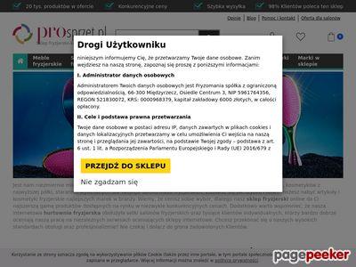 Sklep fryzjerski i hurtownia online - Pro-sprzet.pl