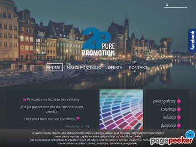 Pure Promotion - projekt, druk, kolportaż