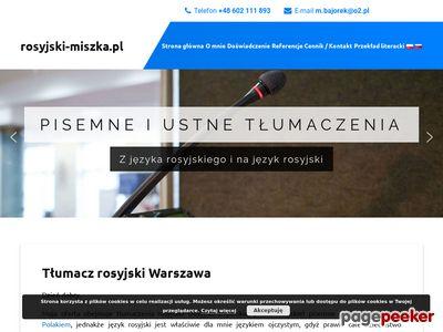Tłumaczenia ustne rosyjski Warszawa