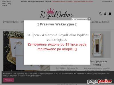 Zaproszenia Ślubne RoyalDekor