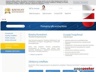 Rzetelny Kontrahent - Certyfikat