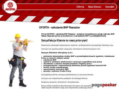 Szkolenia BHP w Rzeszowie