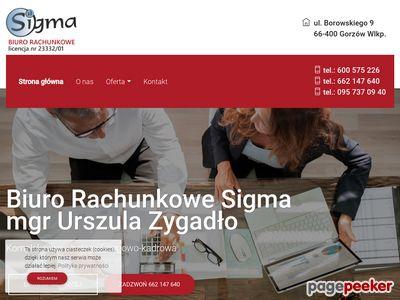 SIGMA Urszula Zygadło biuro księgowe gorzów wielkopolski