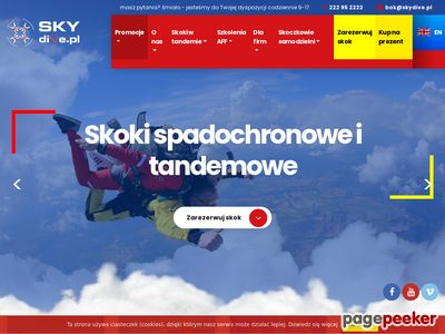 Skoki spadochronowe i tandemowe Warszawa, szkolenia i kursy