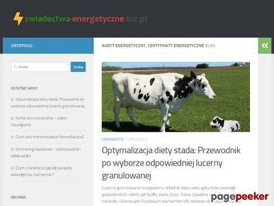 Świadectwa energetyczne Bełchatów, Tuszyn