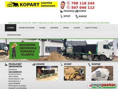 Szamba betonowe KOPART- producent