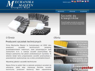 Szczotki przemysłowe listwowe – Szczotki.gda.pl