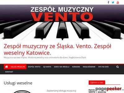 Muzyczna oprawa imprez.Zespół muzyczny i weselny ze Śląska