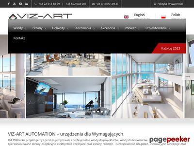 VIZ-ART Producent ekranów projekcyjnych.