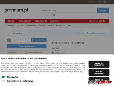 'Webpro' Sp. z o.o. - tworzenie stron