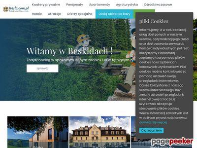 Wisła noclegi, kwatery, pokoje i apartamenty w Wiśle
