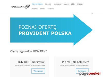 Provident Warszawa - www.wniosek.com.pl