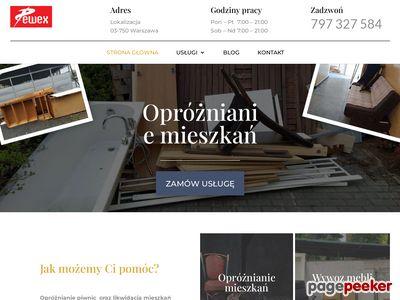 Opróżnianie piwnic Pewex, Warszawa