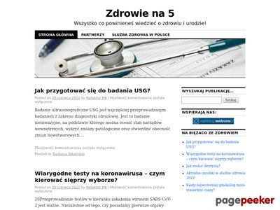 Zdrowie na 5 - zdrowie.Walbrzyszanka.pl