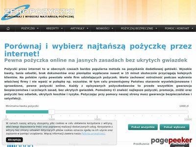 zeropozyczki.pl - pożyczki bez zaświadczeń