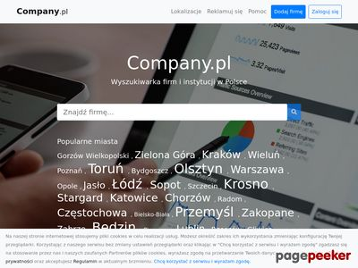 Firmy i instytucje w Polsce - wyszukiwarka Company.pl