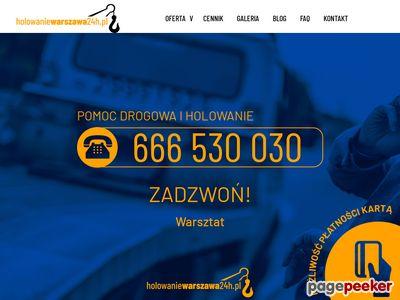 Pomoc drogowa i holowanie Warszawa 24h