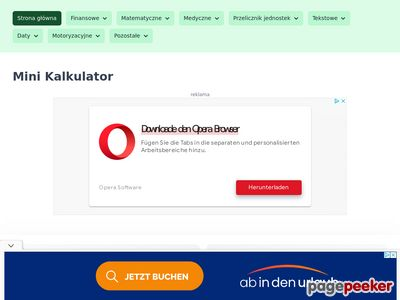 Kalkulator ułamków - minikalkulator.pl