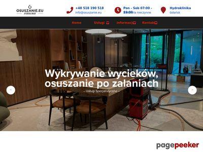 Osuszanie po zalaniu, pomieszczeń, podposadzkowe Gdańsk